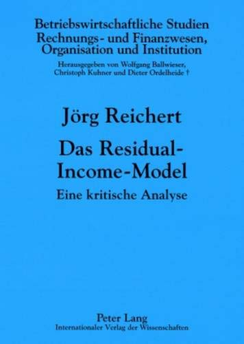 Das Residual-Income-Model: J�rg Reichert