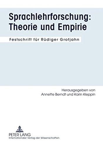 9783631590010: Sprachlehrforschung - Theorie und Empirie: Festschrift fur Rudiger Grotjahn