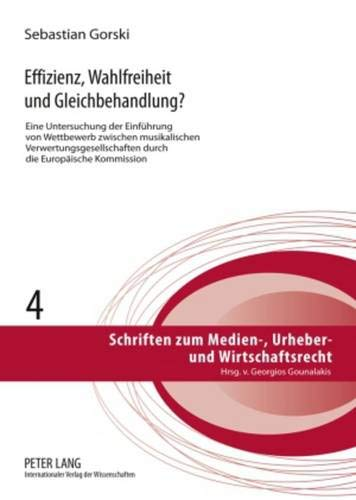 Effizienz, Wahlfreiheit und Gleichbehandlung?: Sebastian Gorski