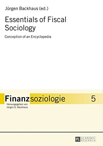 9783631615225: Essentials of Fiscal Sociology: Conception of an Encyclopedia