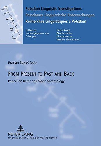 9783631619148: From Present to Past and Back: Papers on Baltic and Slavic Accentology (Potsdam Linguistic Investigations)