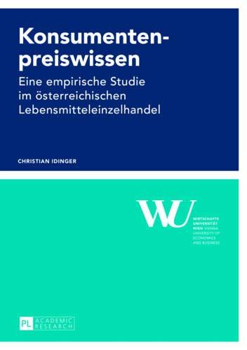 9783631627105: Konsumentenpreiswissen: Eine Empirische Studie Im Österreichischen Lebensmitteleinzelhandel (Forschungsergebnisse Der Wirtschaftsuniversitaet Wien)
