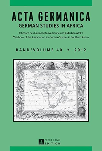 Acta Germanica 2012: Volume 40: German Studies: Carlotta von Maltzan