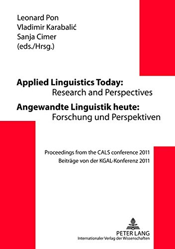 Applied Linguistics Today: Research and Perspectives -: Leonard Pon (editor),