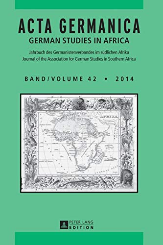 Acta Germanica - German studies in Africa.: Maltzan, Carlotta von