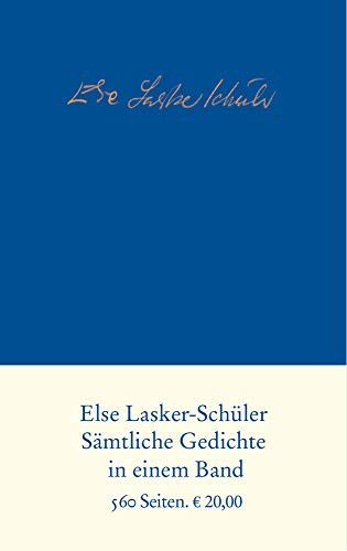 Samtliche Gedichte - Lasker-Schuler, Else