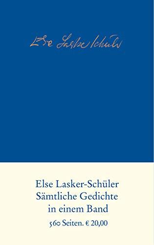 Sämtliche Gedichte: Else Lasker-Schüler