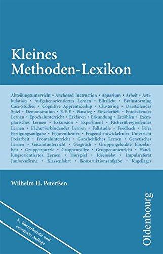 Wissenschaft Ehrenwirth: Kleines Methoden-Lexikon Peterßen, Prof. Dr. Wilhelm