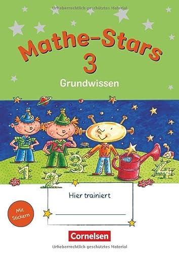 Mathe-Stars - Grundwissen - 3. Schuljahr: Übungsheft - Mit Lösungen - Werner Hatt, Stefan Kobr, Ursula Kobr, Birgit Krautloher, Beatrix Pütz