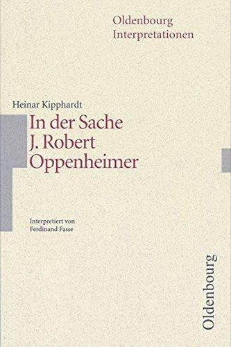 9783637014206: In der Sache J. Robert Oppenheimer. Interpretationen