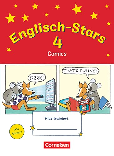 9783637015098: Englisch-Stars 4. Schuljahr. Übungsheft Comics mit Lösungsheft