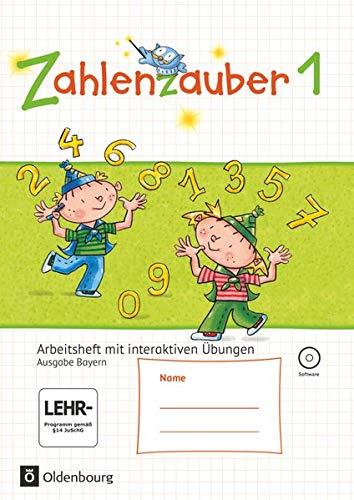 9783637017764: Zahlenzauber 1 Ausgabe S Bayern Arbeitsheft mit CD-ROM: Mathematik f�r Grundschulen