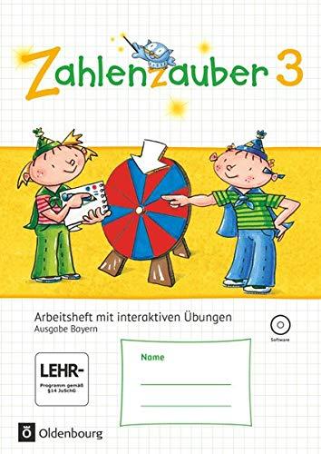 9783637017788: Zahlenzauber 3. Ausgabe Bayern (Neuausgabe) . Arbeitsheft mit CD-ROM und eingelegten L�sungen