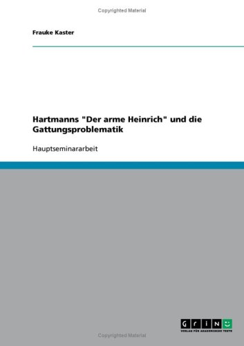 9783638654630: Hartmanns
