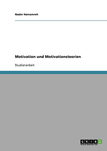 9783638666633: Motivation Und Motivationsteorien