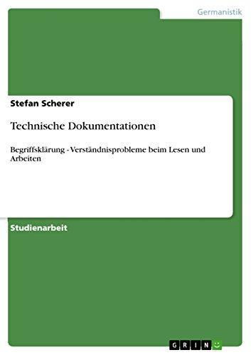 9783638673969: Technische Dokumentationen (German Edition)
