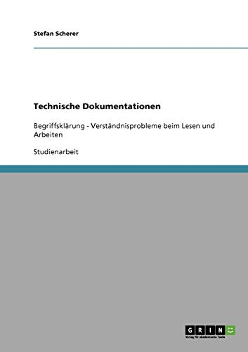 9783638673969: Technische Dokumentationen