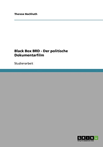 9783638717311: Black Box BRD - Der politische Dokumentarfilm