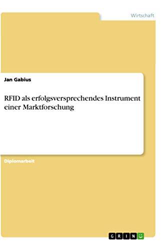 Rfid ALS Erfolgsversprechendes Instrument Einer Marktforschung: Jan Gabius