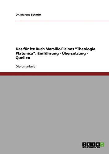 9783638723794: Das fünfte Buch Marsilio Ficinos