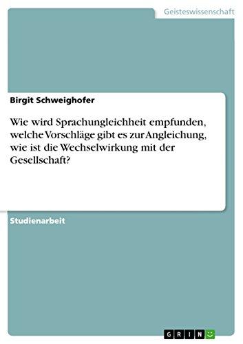 Wie Wird Sprachungleichheit Empfunden, Welche Vorschlage Gibt: Birgit Schweighofer