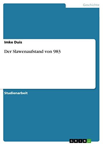 9783638793551: Der Slawenaufstand von 983