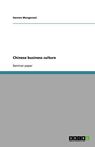 9783638793889: Chinese business culture