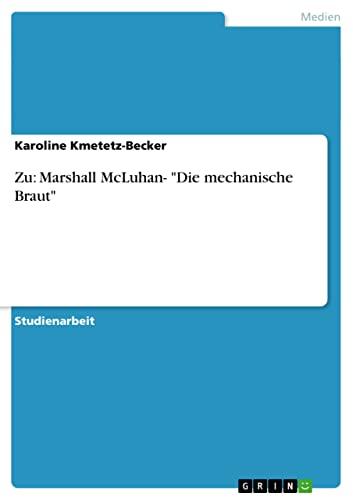 9783638799102: Zu: Marshall McLuhan-
