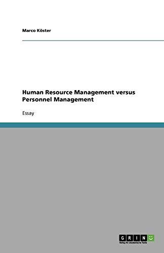 9783638802024: Human Resource Management versus Personnel Management