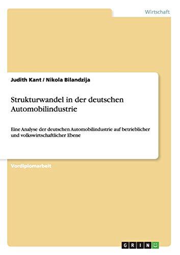 9783638814201: Strukturwandel in der deutschen Automobilindustrie