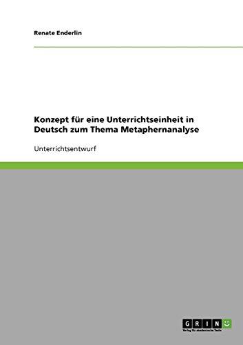 Konzept Fur Eine Unterrichtseinheit in Deutsch Zum Thema Metaphernanalyse: Renate Enderlin