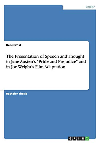 9783638904209: The Presentation of Speech and Thought in Jane Austen's
