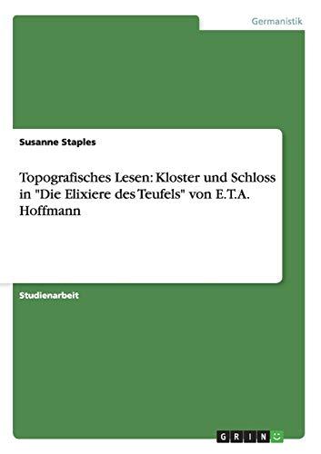 9783638916349: Topografisches Lesen: Kloster und Schloss in