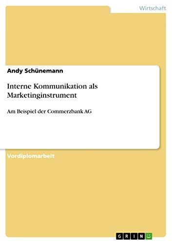 9783638921947: Interne Kommunikation als Marketinginstrument