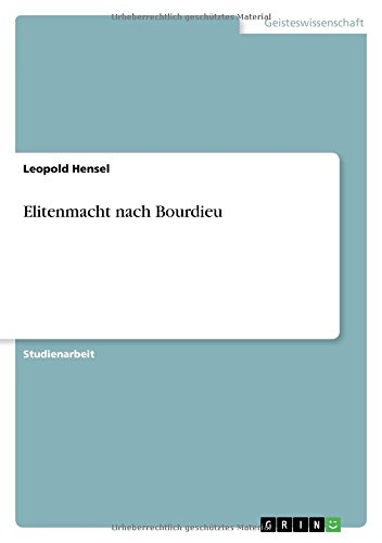 9783638953313: Elitenmacht nach Bourdieu (German Edition)