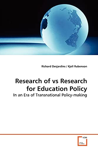 9783639001693: Research of vs Research for Education Policy: In an Era of Transnational Policy-making