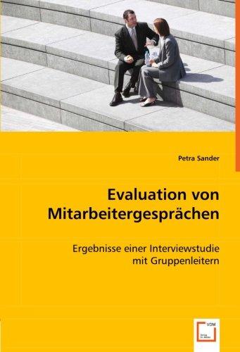 9783639064544: Evaluation von Mitarbeitergesprächen: - Ergebnisse einer Interviewstudie mit Gruppenleitern