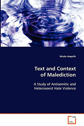 Text and Context of Malediction: Nicole Asquith