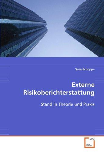 9783639092585: Externe Risikoberichterstattung: Stand in Theorie und Praxis