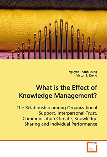 9783639116786: What is the Effect of Knowledge Management?: The Relationship among Organizational Support, Interpersonal Trust, Communication Climate, Knowledge Sharing and Individual Performance