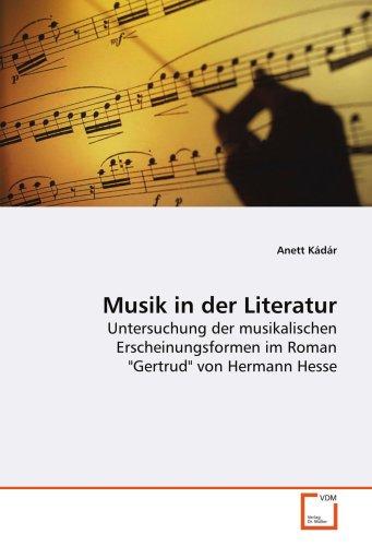 9783639116984: Musik in der Literatur: Untersuchung der musikalischen Erscheinungsformen im Roman