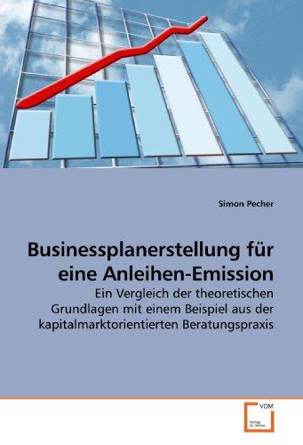 Businessplanerstellung für eine Anleihen-Emission: Simon Pecher