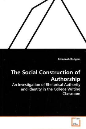 9783639139976: The Social Construction of Authorship
