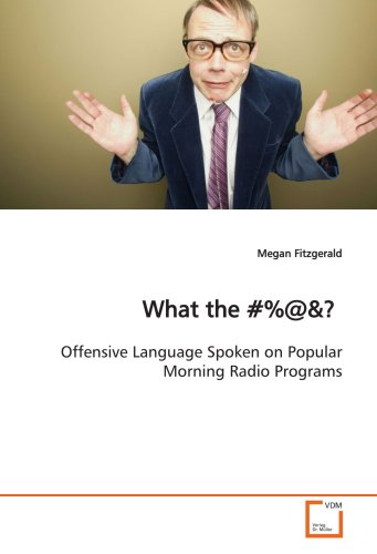 What the ?%@ 9783639141368 This book examines offensive language spoken on popular morning radio programs. While concerns over indecency have long existed, the 2004 Super Bowl half-time show sparked renewed interest in the issue of indecency on television and radio and, as evident in the 2007 firing of radio personality Don Imus, continues to be of concern today. Even with Howard Stern running for the cover of satellite radio at the start of 2006 and the often-controversial NYPD Blue signing off in 2005, the battle over a crackdown on indecency on the public airwaves wages on. How pervasive is indecent language on radio? Is it really as ?filthy? and out of control as critics claim? While some lawmakers and interest groups presume this to be the case, no research evidence exists to support or reject these claims. While offensive language on primetime television has been studied, offensive language on radio has received little scholarly attention. The purpose of this work was to identify the amount and kind of offensive language spoken on- air.