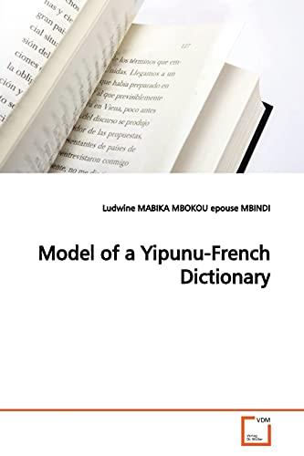 Model of a Yipunu-French Dictionary: Ludwine Mabika Mbokou