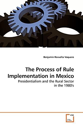 The Process of Rule Implementation in Mexico: Benjamin Revuelta Vaquero