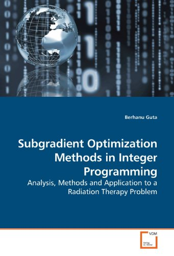 9783639201178: Subgradient Optimization Methods in Integer Programming: Analysis, Methods and Application to a Radiation Therapy Problem