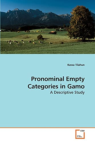 9783639219999: Pronominal Empty Categories in Gamo