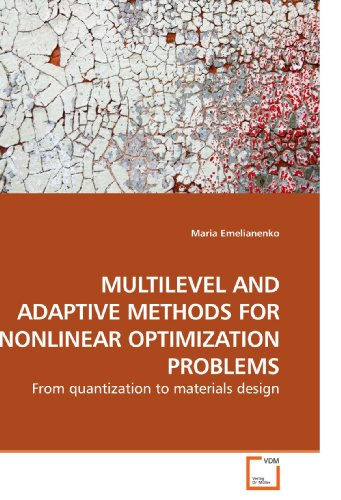 MULTILEVEL AND ADAPTIVE METHODS FOR NONLINEAR OPTIMIZATION PROBLEMS: From quantization to materials...