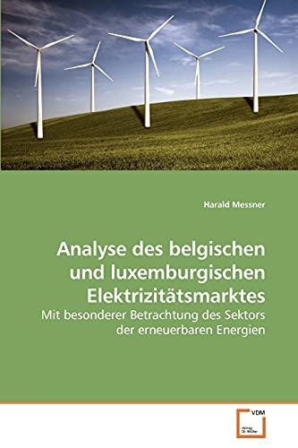 9783639231397: Analyse des belgischen und luxemburgischen Elektrizit�tsmarktes